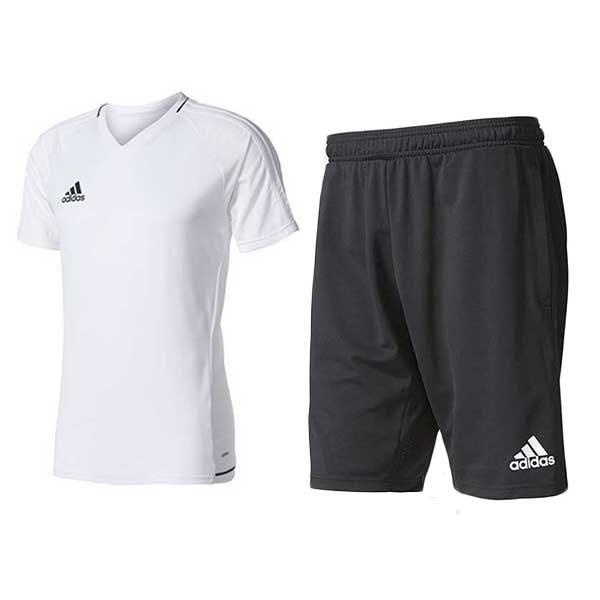 Ensemble Maillot et short Adidas noir blanc BQ2801 - CF3676